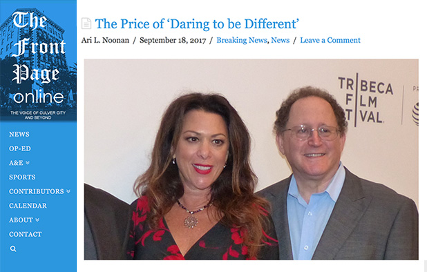 THE FRONT PAGE ONLINE – September 18, 2017 – The Price of 'Daring to be Different'